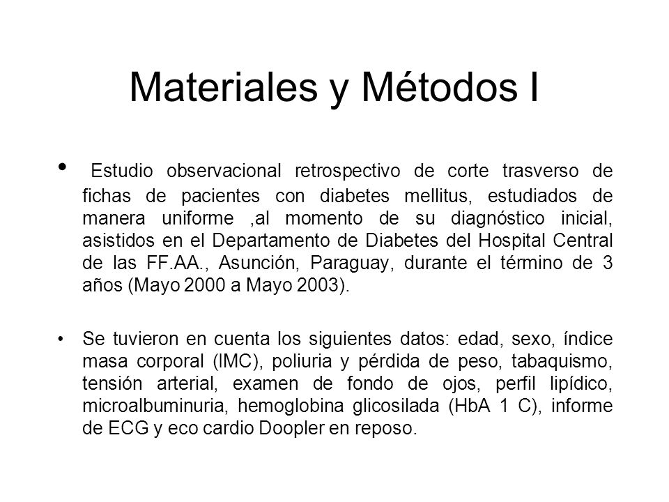 Materiales y Métodos I