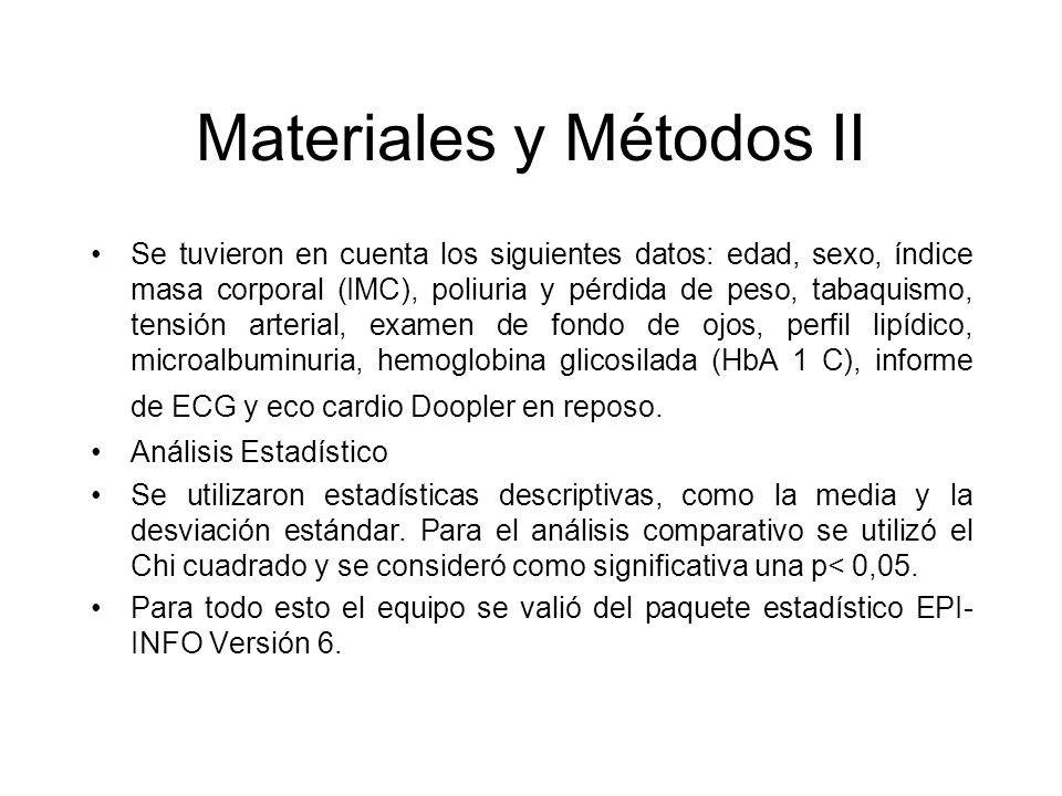 Materiales y Métodos II