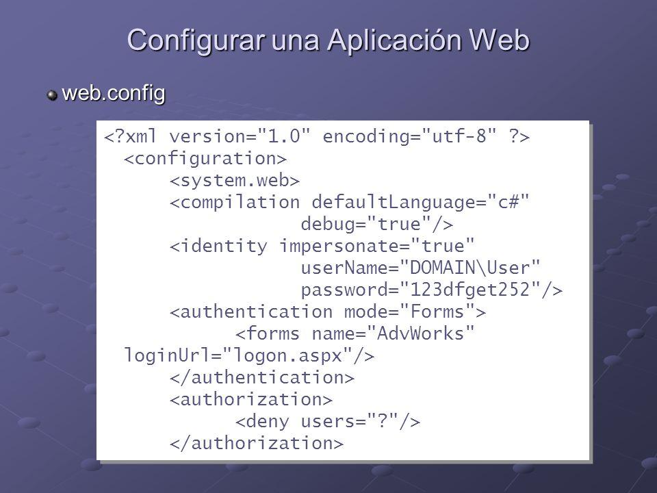 Configurar una Aplicación Web