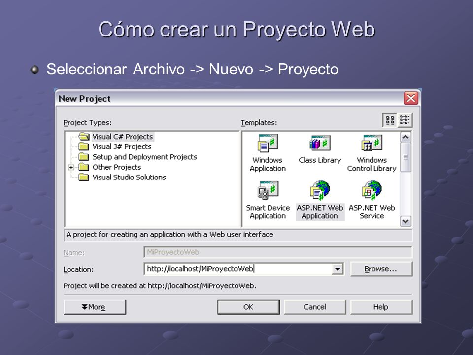 Cómo crear un Proyecto Web