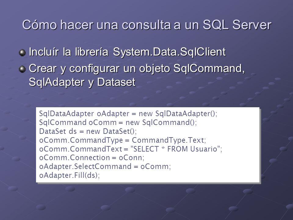 Cómo hacer una consulta a un SQL Server