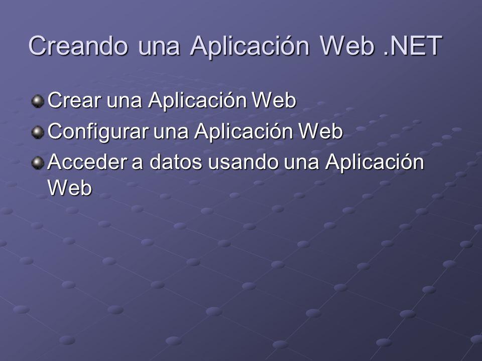 Creando una Aplicación Web .NET