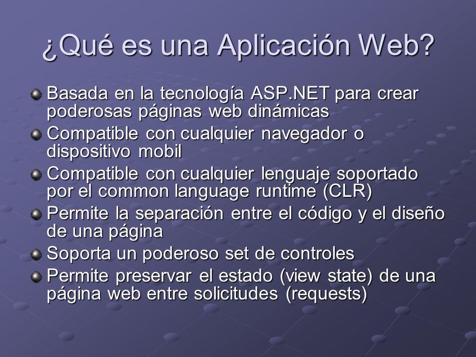 ¿Qué es una Aplicación Web
