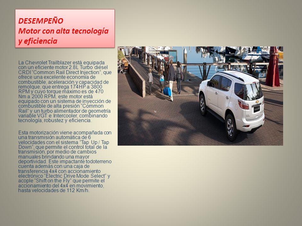 DESEMPEÑO Motor con alta tecnología y eficiencia