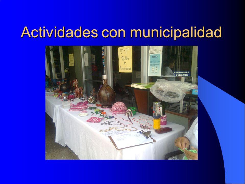 Actividades con municipalidad