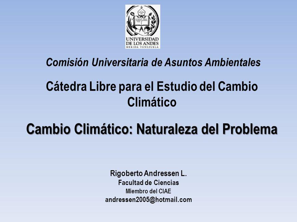 Cambio Climático: Naturaleza del Problema