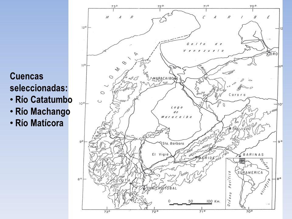 Cuencas seleccionadas: