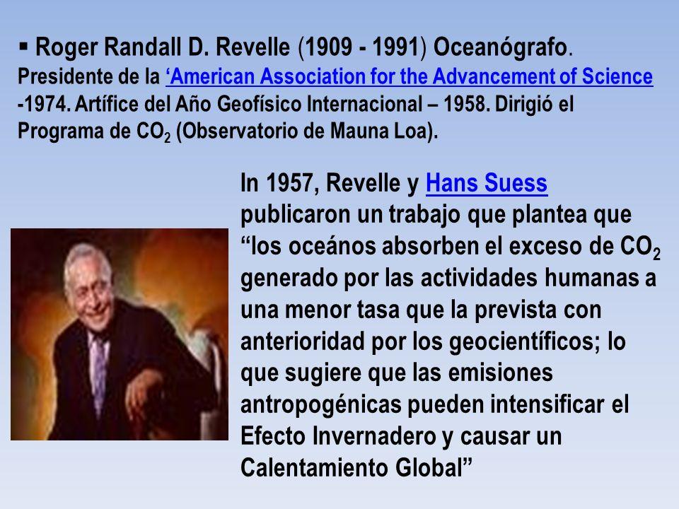 Roger Randall D. Revelle (1909 - 1991) Oceanógrafo