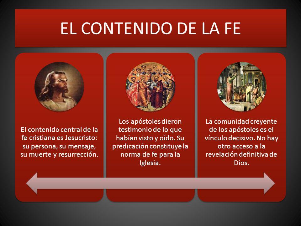 EL CONTENIDO DE LA FE El contenido central de la fe cristiana es Jesucristo: su persona, su mensaje, su muerte y resurrección.