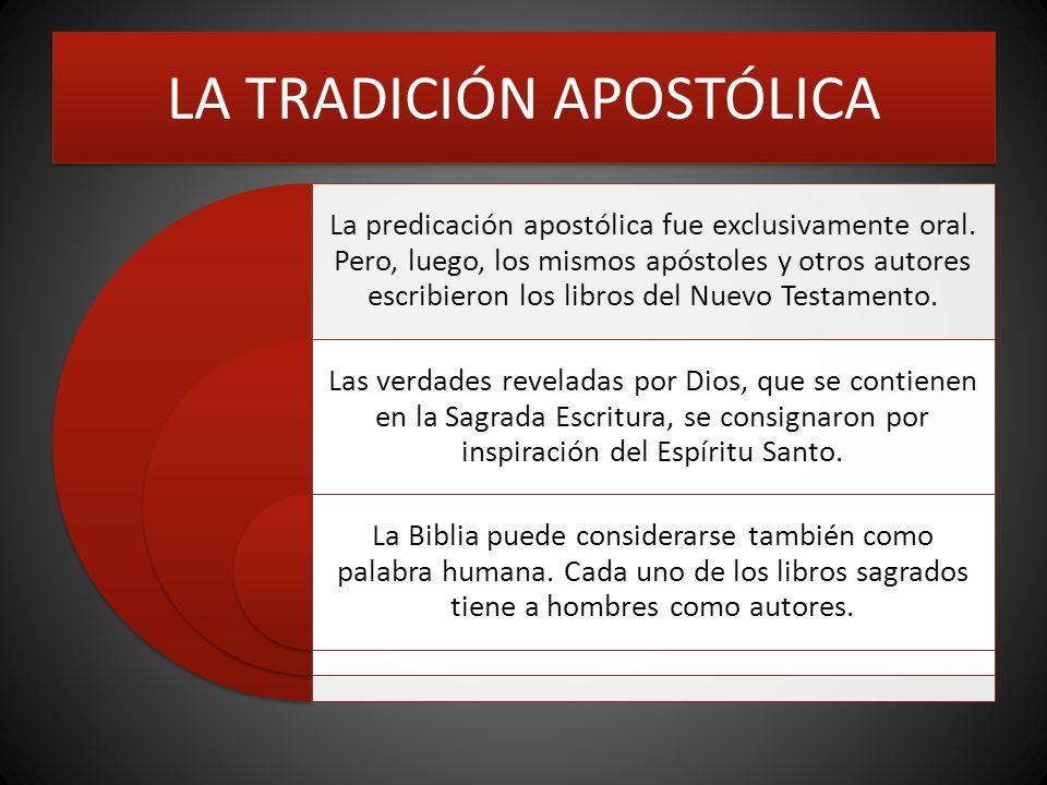 LA TRADICIÓN APOSTÓLICA