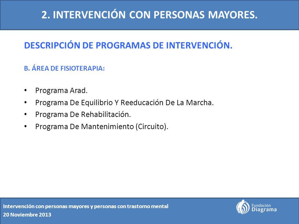 2. INTERVENCIÓN CON PERSONAS MAYORES.