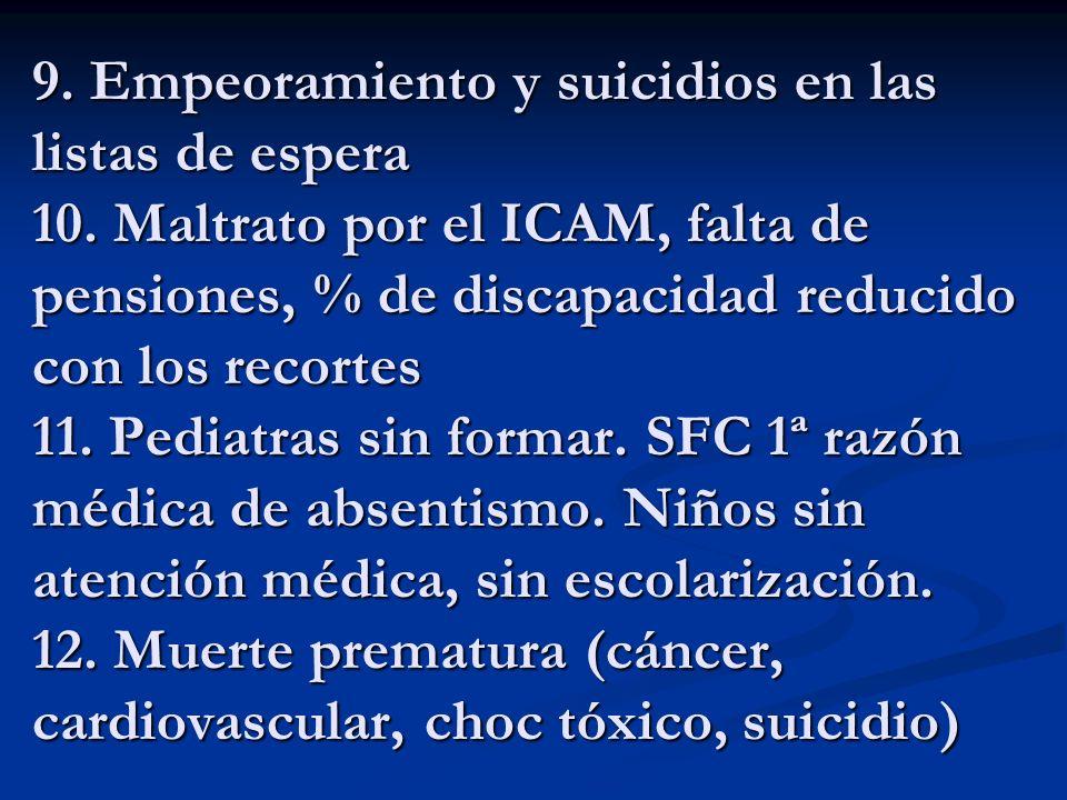 9. Empeoramiento y suicidios en las listas de espera 10