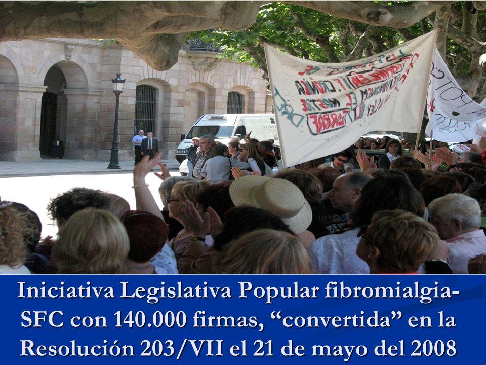 Iniciativa Legislativa Popular fibromialgia-SFC con 140
