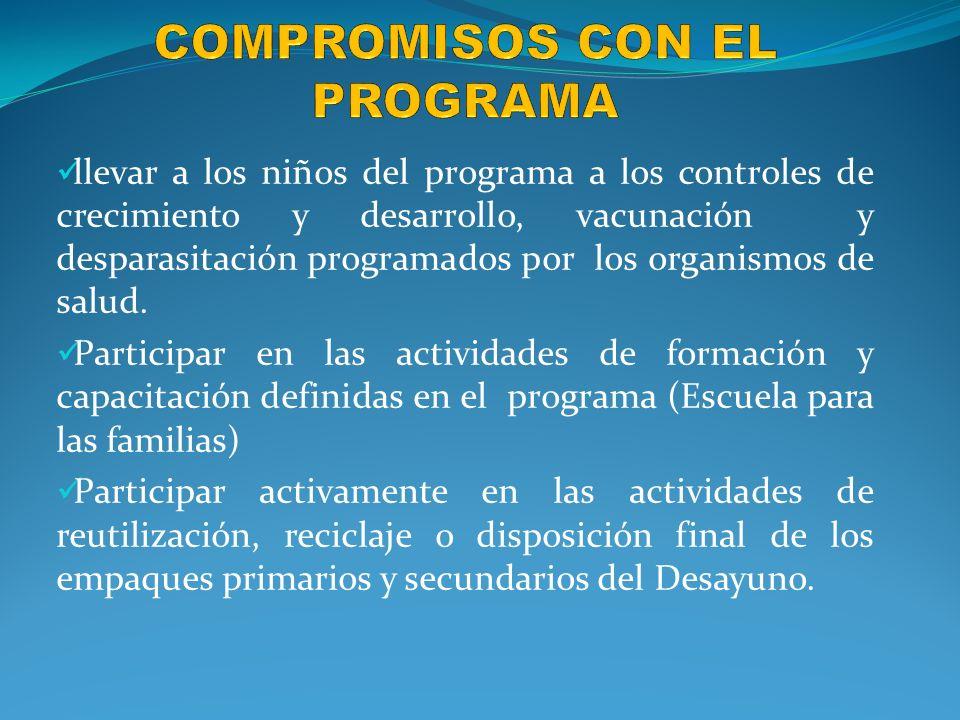 COMPROMISOS CON EL PROGRAMA