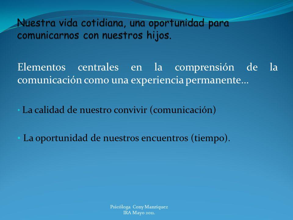 Psicóloga Cony Manríquez