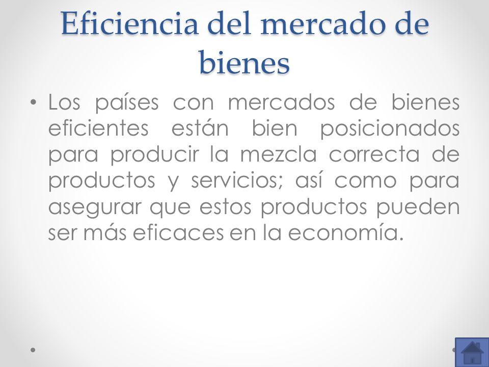 Eficiencia del mercado de bienes