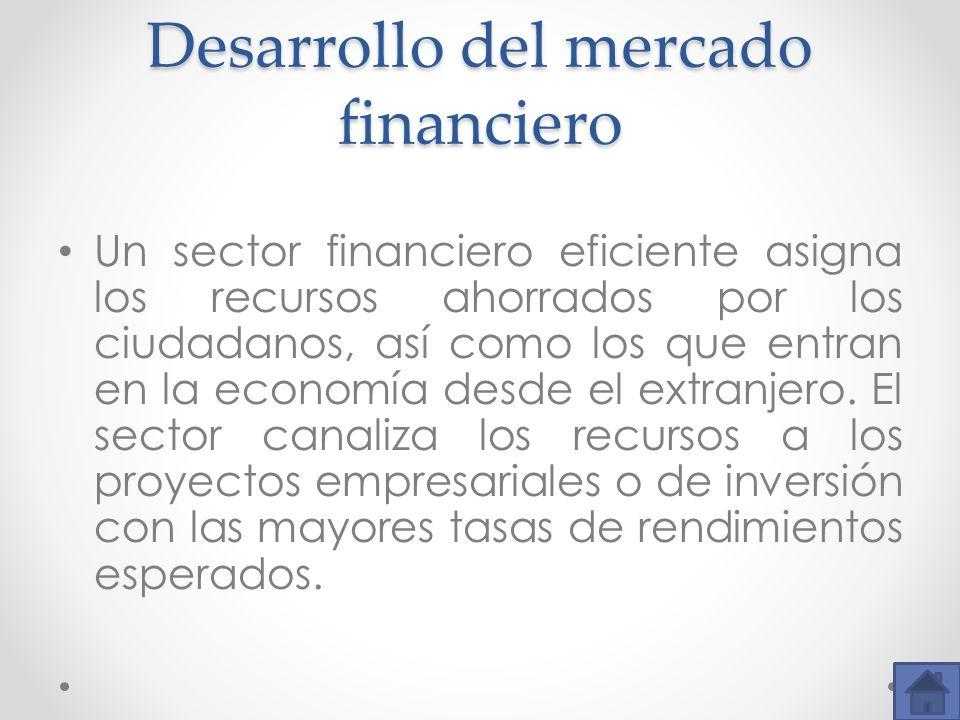 Desarrollo del mercado financiero