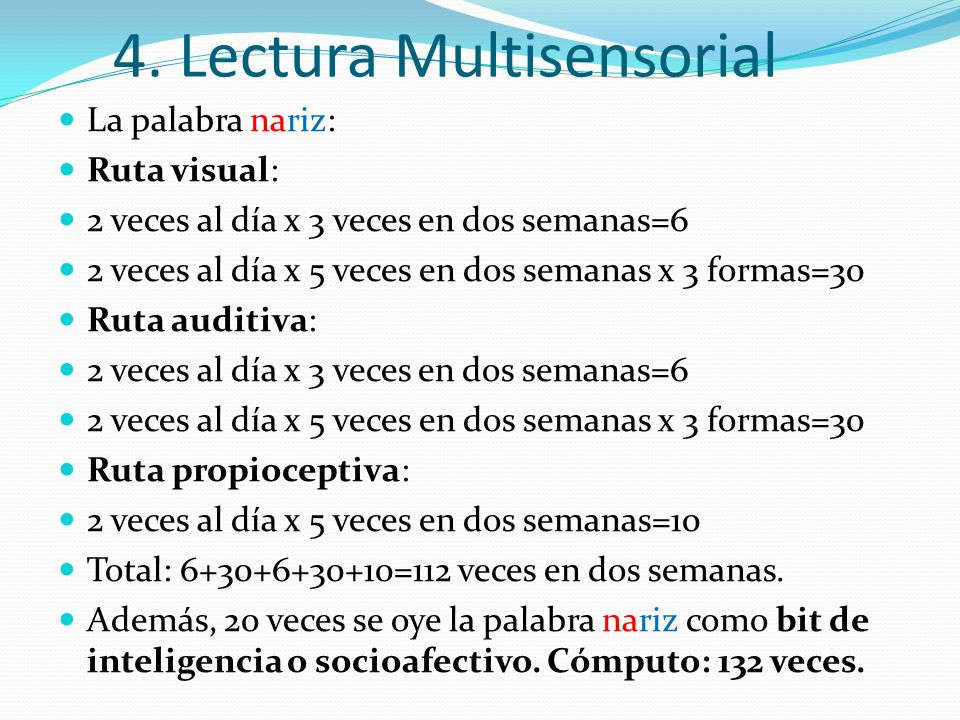 4. Lectura Multisensorial