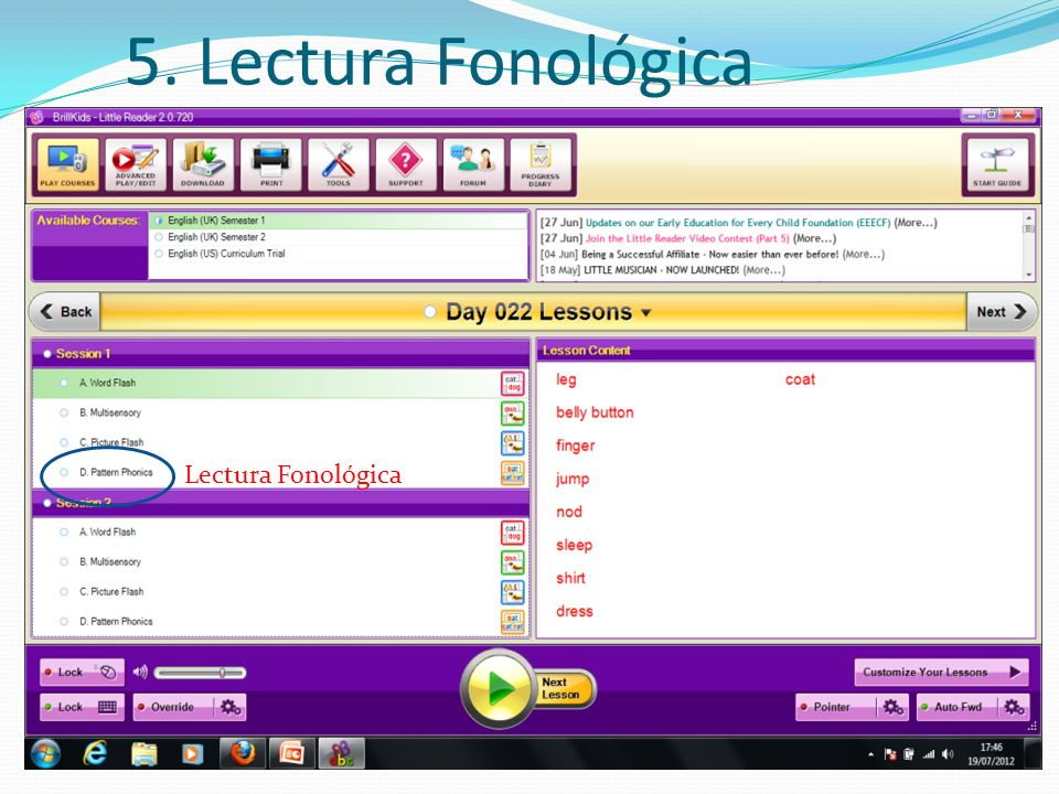 5. Lectura Fonológica Lectura Fonológica