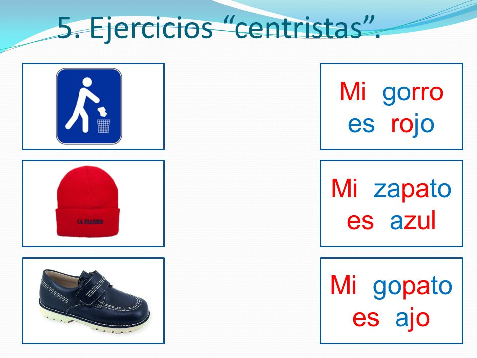 5. Ejercicios centristas .