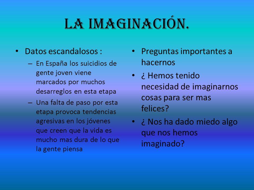 La imaginación. Datos escandalosos : Preguntas importantes a hacernos