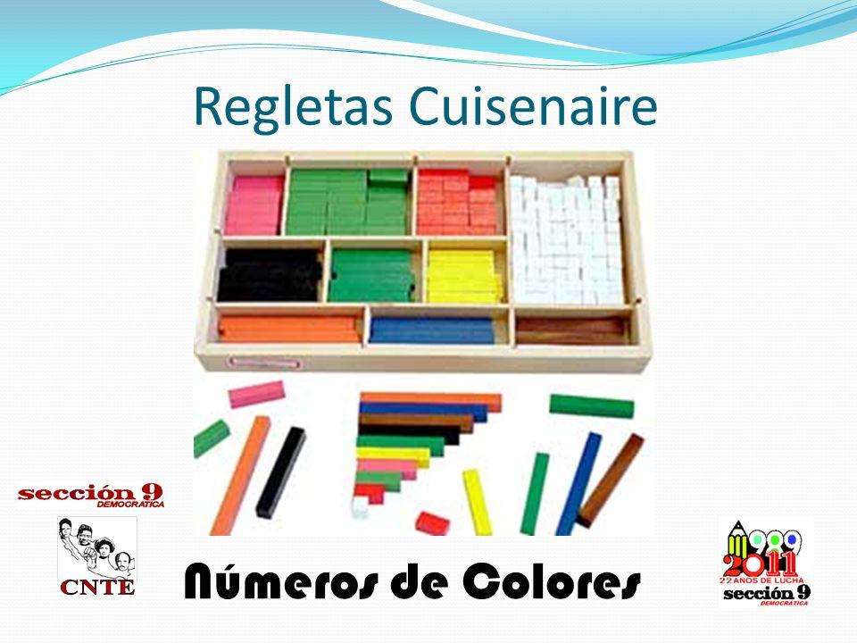 Regletas Cuisenaire Números de Colores