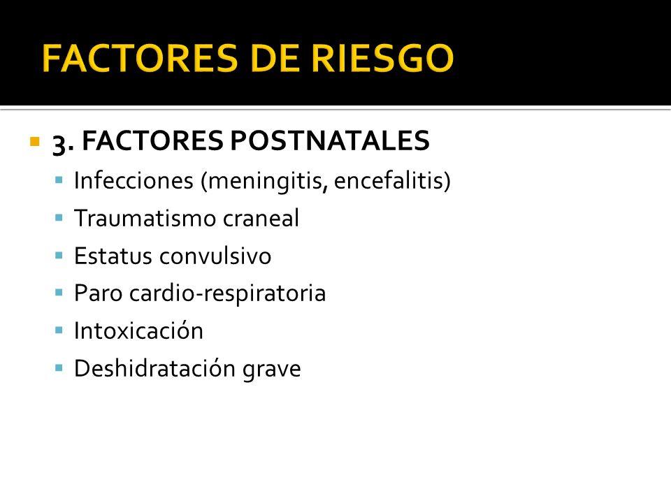 FACTORES DE RIESGO 3. FACTORES POSTNATALES