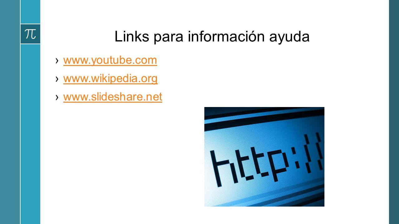 Links para información ayuda