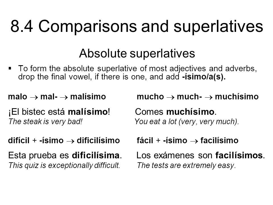 Absolute superlatives