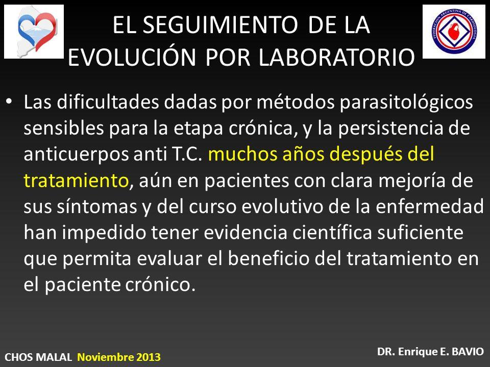 EL SEGUIMIENTO DE LA EVOLUCIÓN POR LABORATORIO