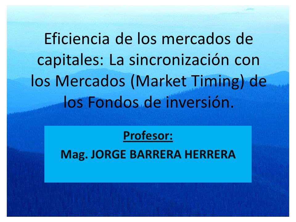 Profesor: Mag. JORGE BARRERA HERRERA
