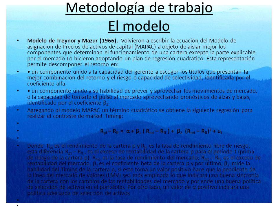 Metodología de trabajo El modelo