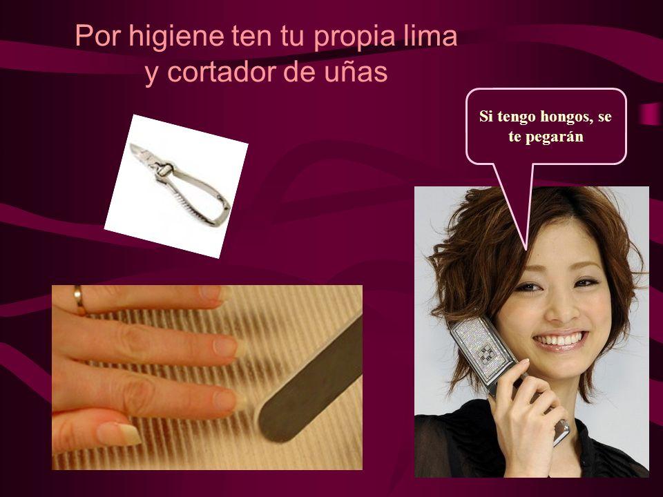 Por higiene ten tu propia lima y cortador de uñas