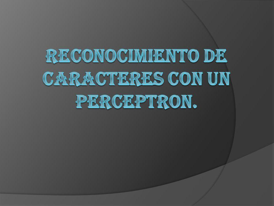 RECONOCIMIENTO DE CARACTERES CON UN PERCEPTRON.