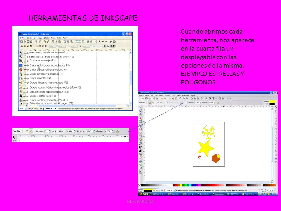 HERRAMIENTAS DE INKSCAPE
