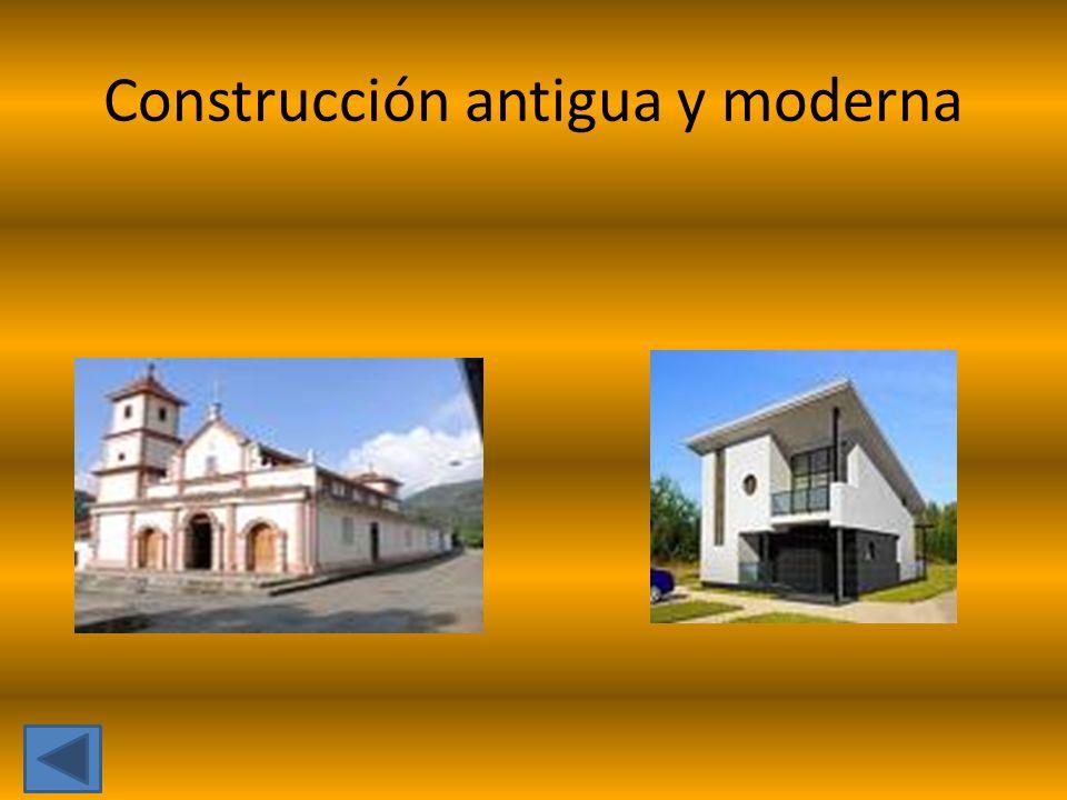 Construcción antigua y moderna