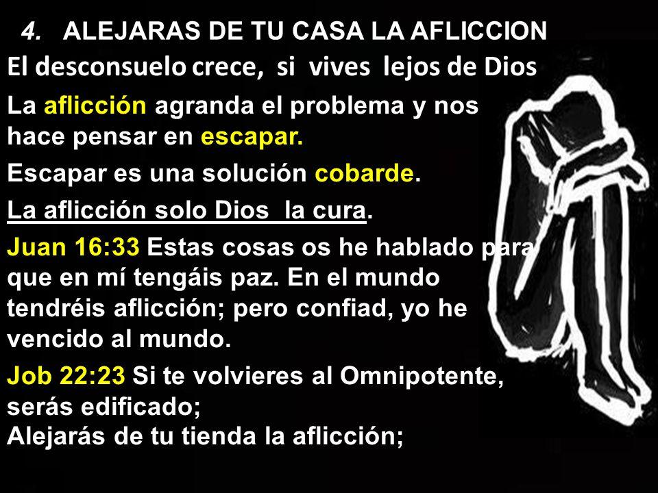 4. ALEJARAS DE TU CASA LA AFLICCION