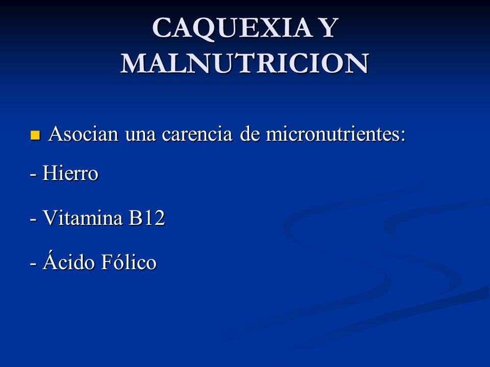 CAQUEXIA Y MALNUTRICION