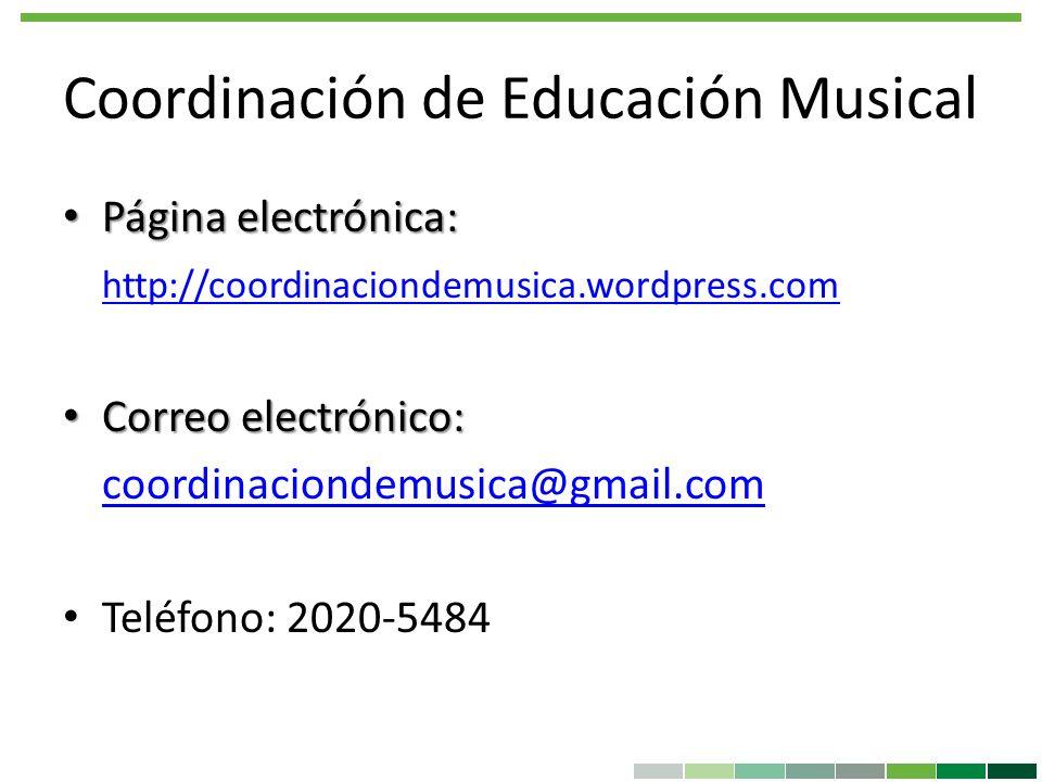 Coordinación de Educación Musical