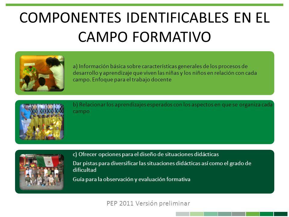 COMPONENTES IDENTIFICABLES EN EL CAMPO FORMATIVO