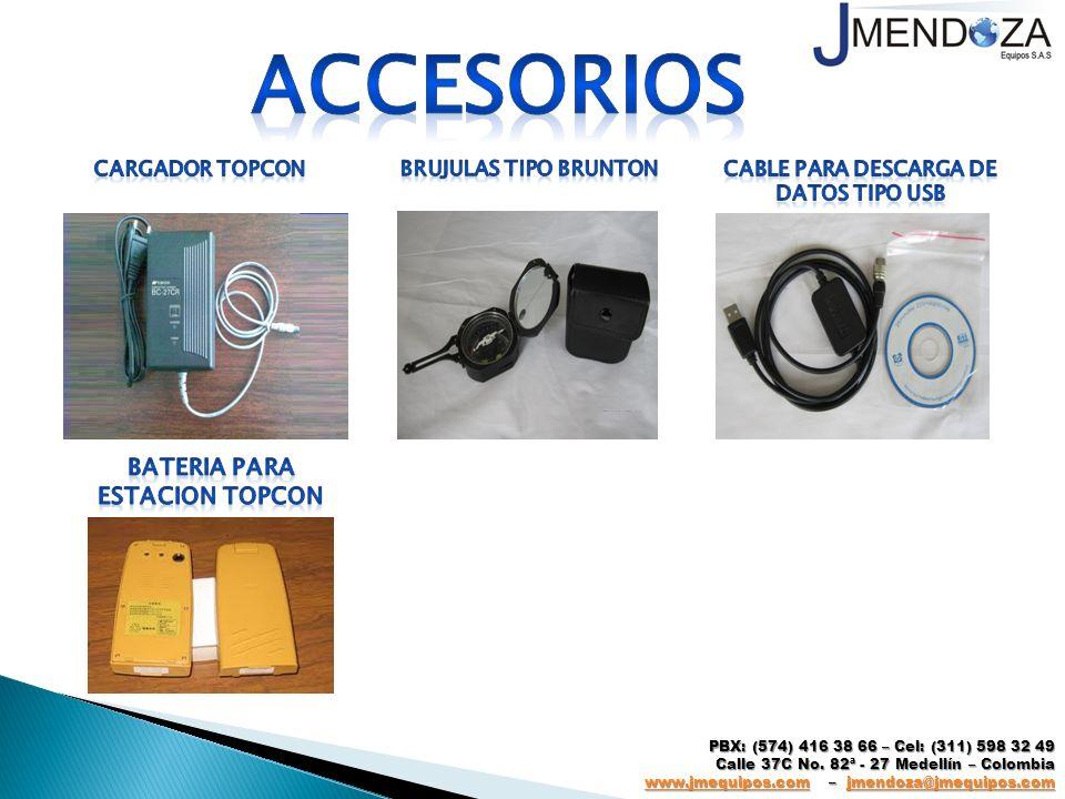 Cable para descarga de datos tipo usb BATERIA PARA ESTACION TOPCON