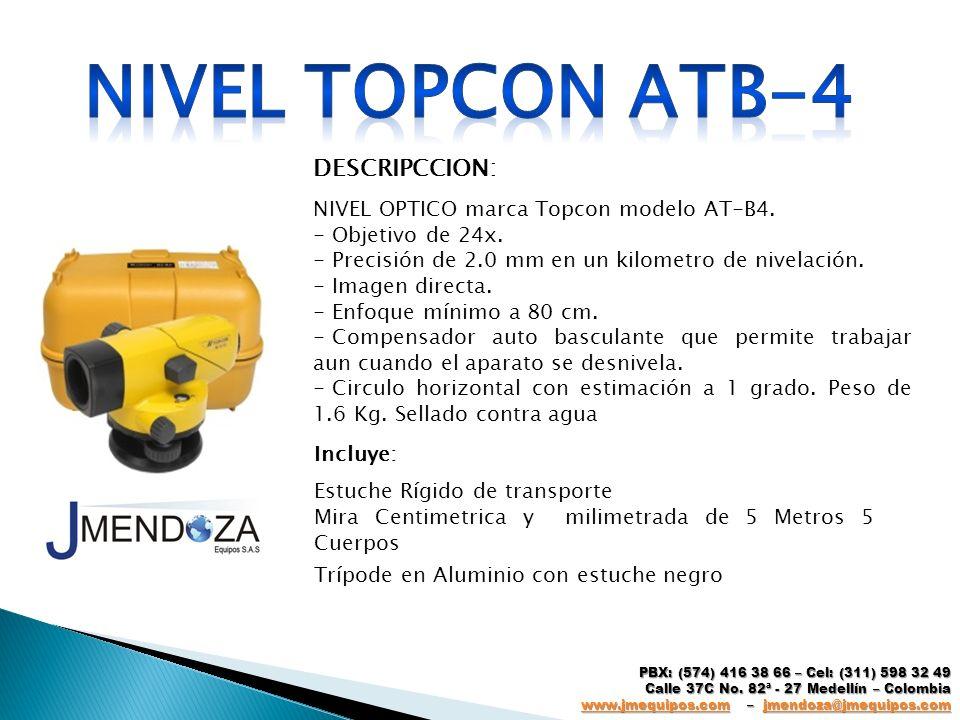 Nivel topcon atb-4 DESCRIPCCION: