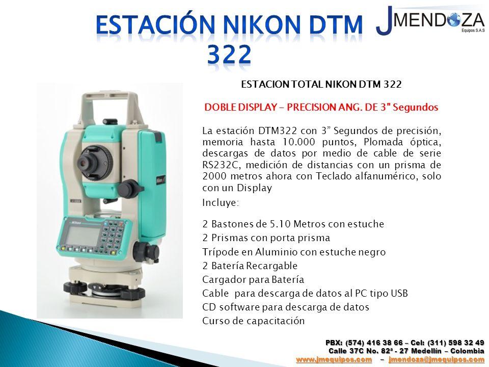 Estación nikon dtm 322 ESTACION TOTAL NIKON DTM 322