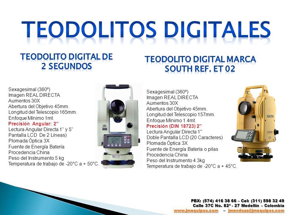TEODOLITOS DIGITALES TEODOLITO DIGITAL DE 2 SEGUNDOS