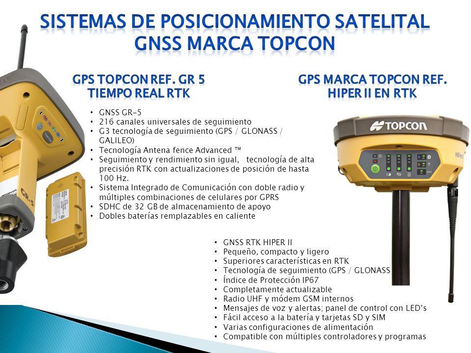 SISTEMAS DE POSICIONAMIENTO satelital GNSS marca TOPCON