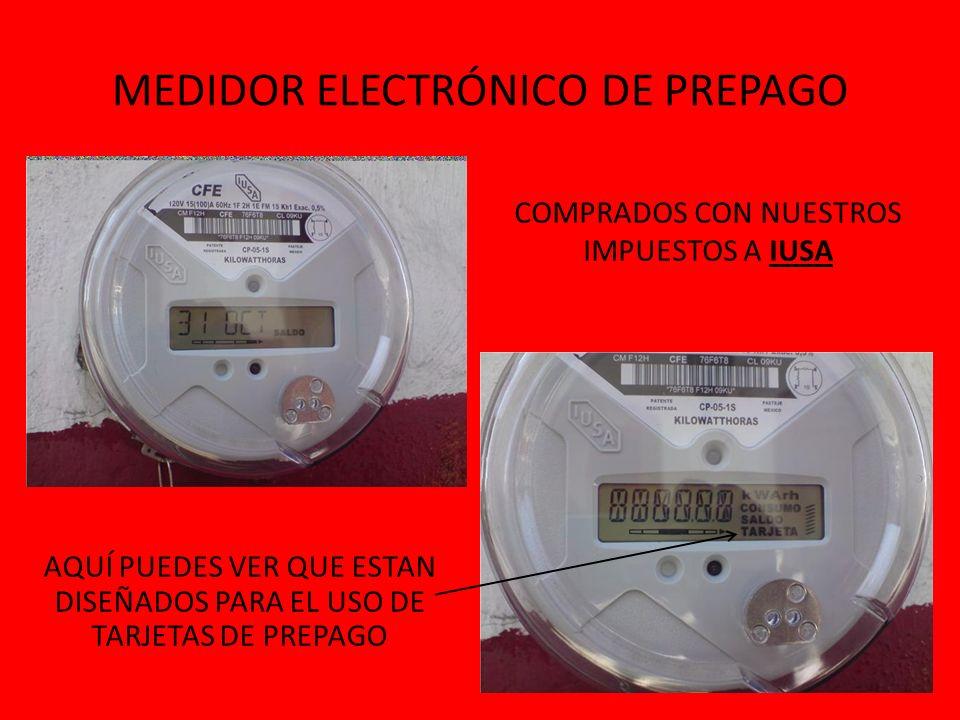MEDIDOR ELECTRÓNICO DE PREPAGO