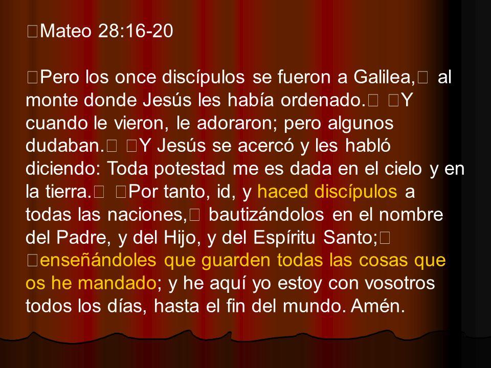 Mateo 28:16-20