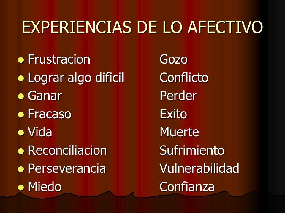 EXPERIENCIAS DE LO AFECTIVO