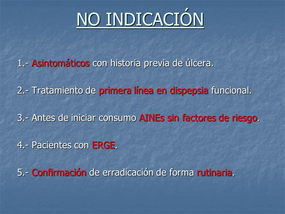 NO INDICACIÓN