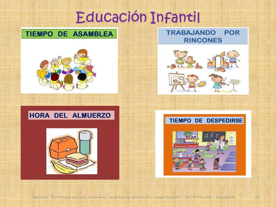 Educación Infantil Seminario: Estrategias en el aula con alumnos con problemas de atención y comportamiento - CRA Entreviñas - Fuensaldaña.